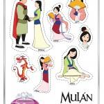 Figuras imprimibles de Mulán