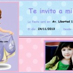 Invitación de Cumpleaños con tu foto de Princesa Sofía