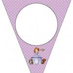 Banderines de Princesita Sofia para decorar fiesta de Cumpleaños