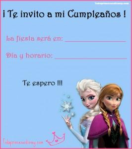 invitacion frozen