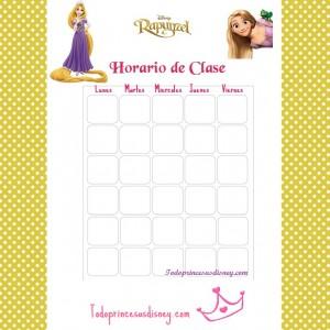 Horario Clase Rapunzel