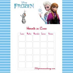 Horario clase Frozen