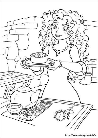 Dibujos para colorear de m rida princesas disney - Coloriage de rebelle ...