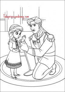 Dibujos para colorear de Frozen  Princesas Disney