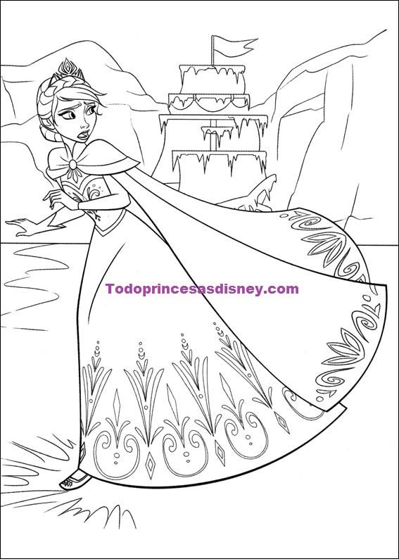 Descargar dibujos de Anna y Elsa de Frozen  Princesas Disney