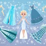 Juego imprimible para vestir a Elsa