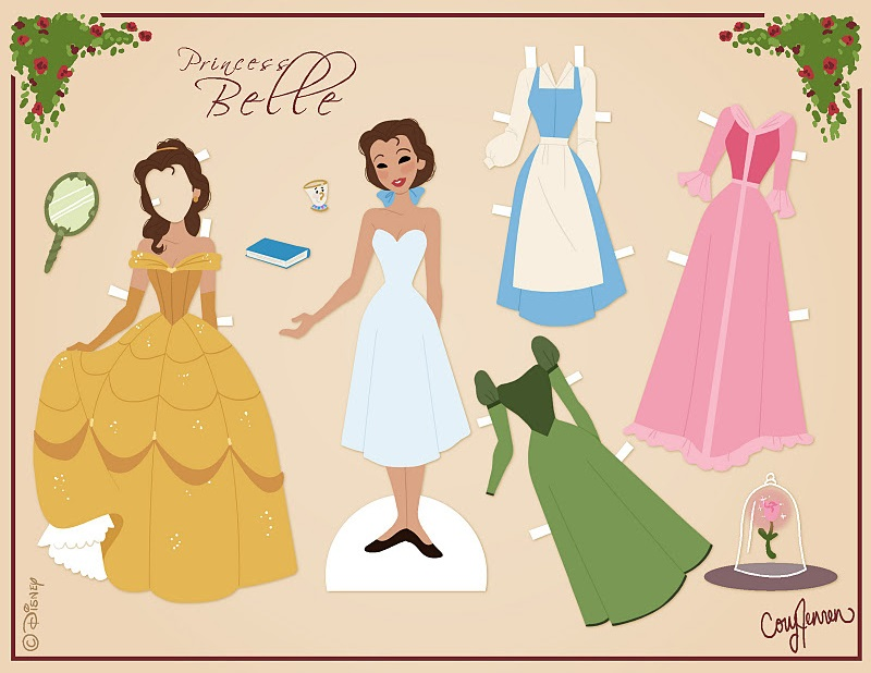 Beauty and the Beast Paper Doll