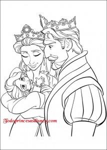 Dibujos para colorear de Rapunzel  Princesas Disney