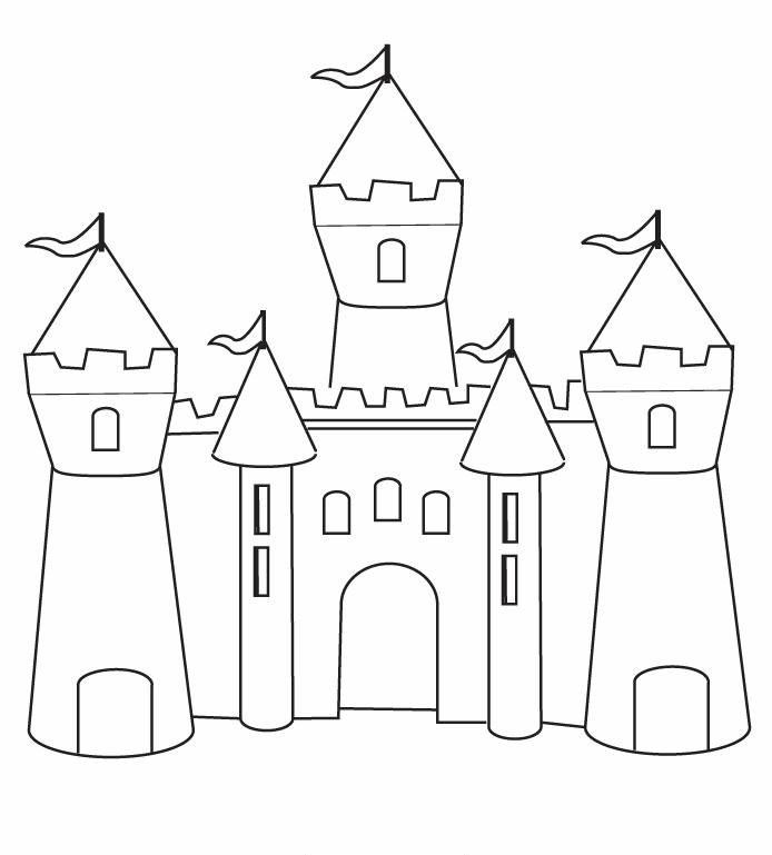 Castillo de Princesa Sofa para dibujar  Princesas Disney