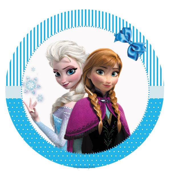 Imagenes Redondas De Frozen Moldes Elsa Topper