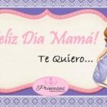 Tarjetita de de Princesita Sofía para Día de la Madre