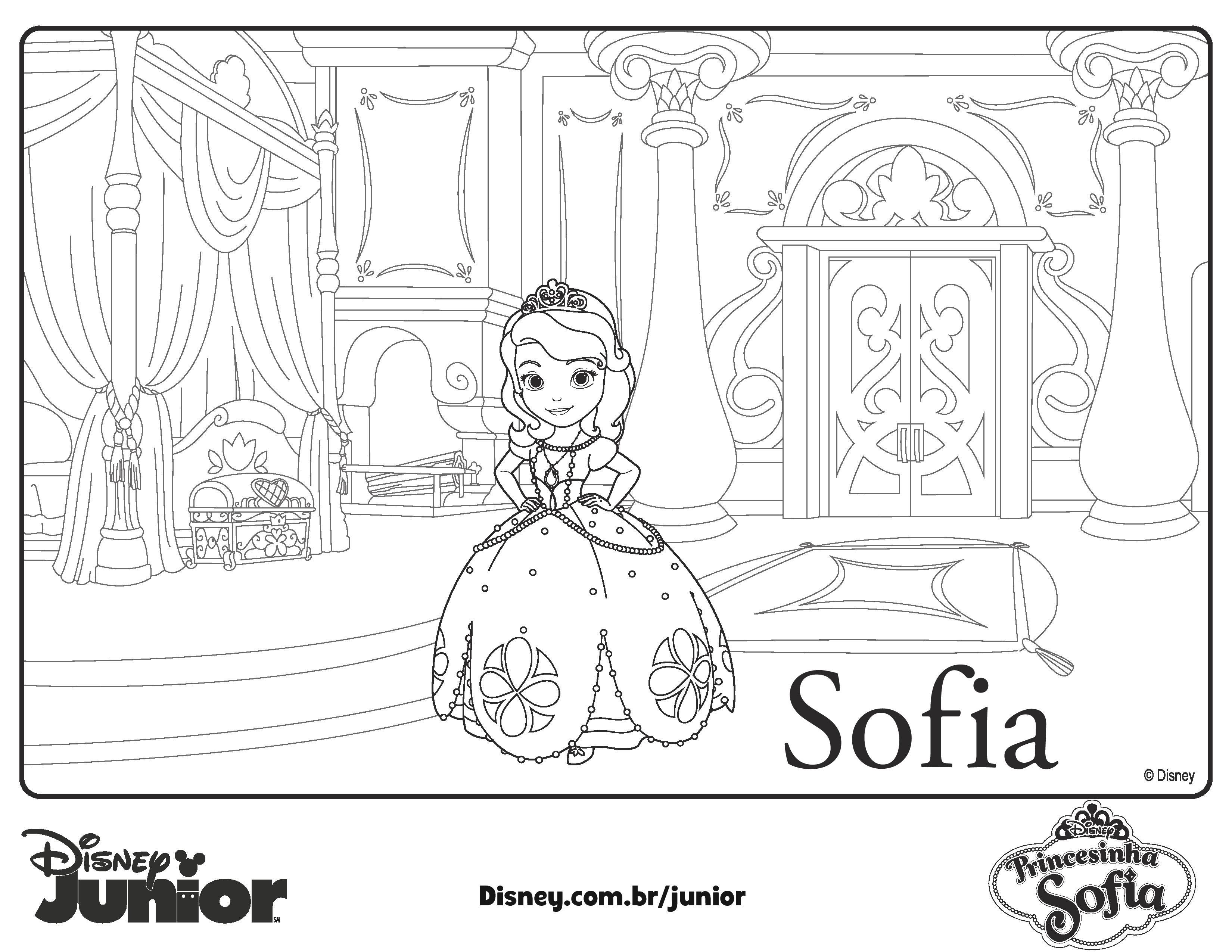 Para Colorear De Princesita Sofia Moldes De Jamen Princesa Sofia Para