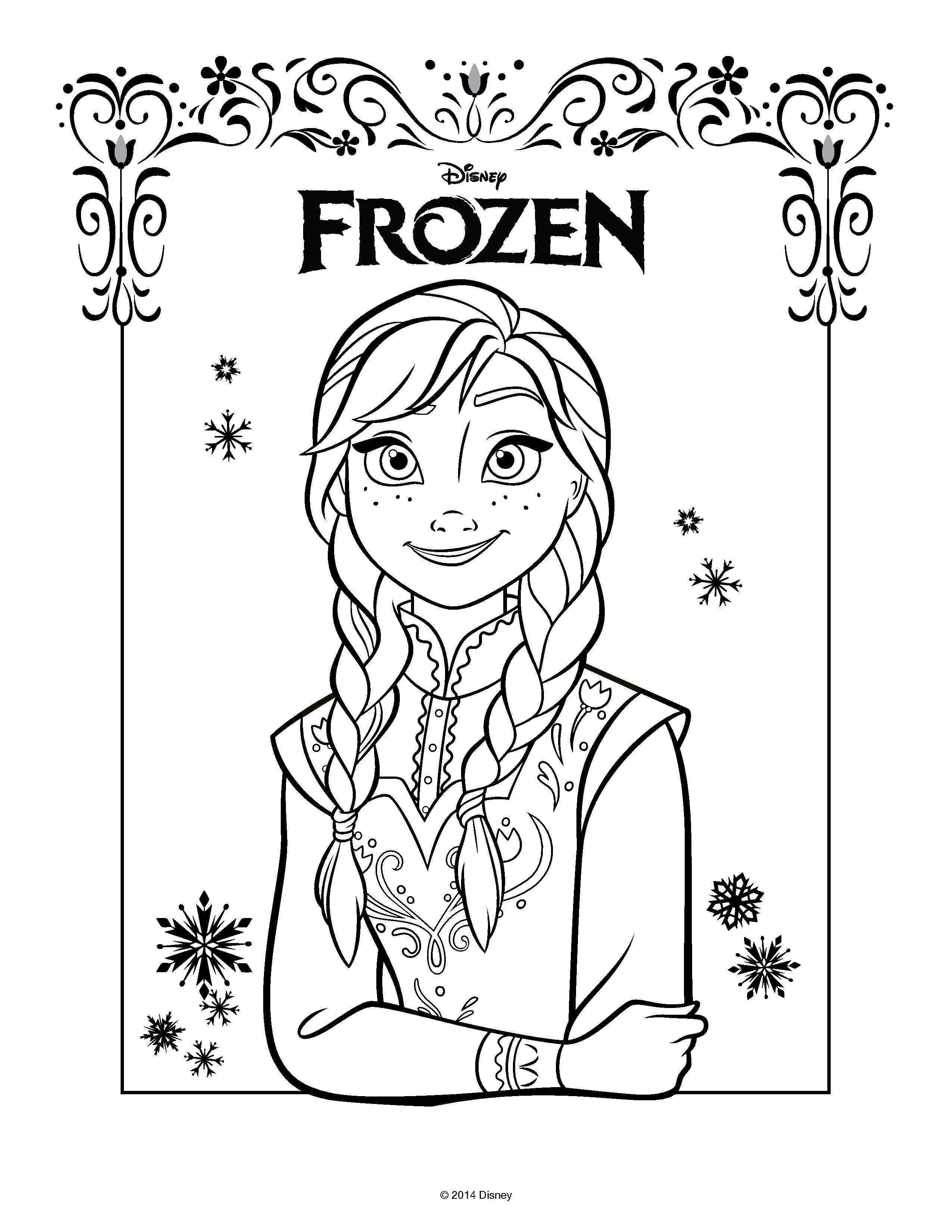 Elsa y anna para colorear princesas disney for Ana coloring pages
