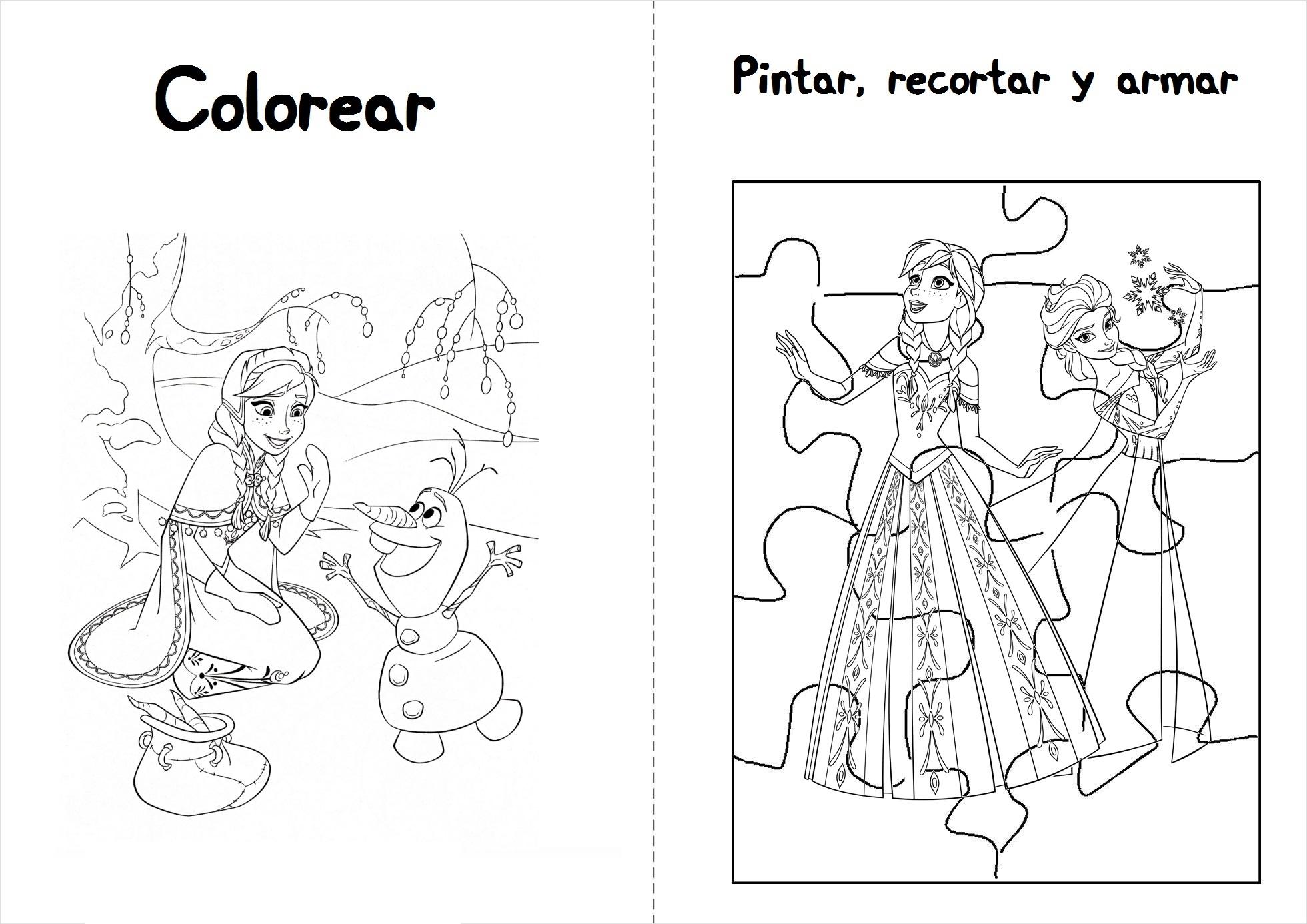 Dibujos Para Colorear E Imprimir De Frozen: Actividades De Frozen Para Descargar E Imprimir