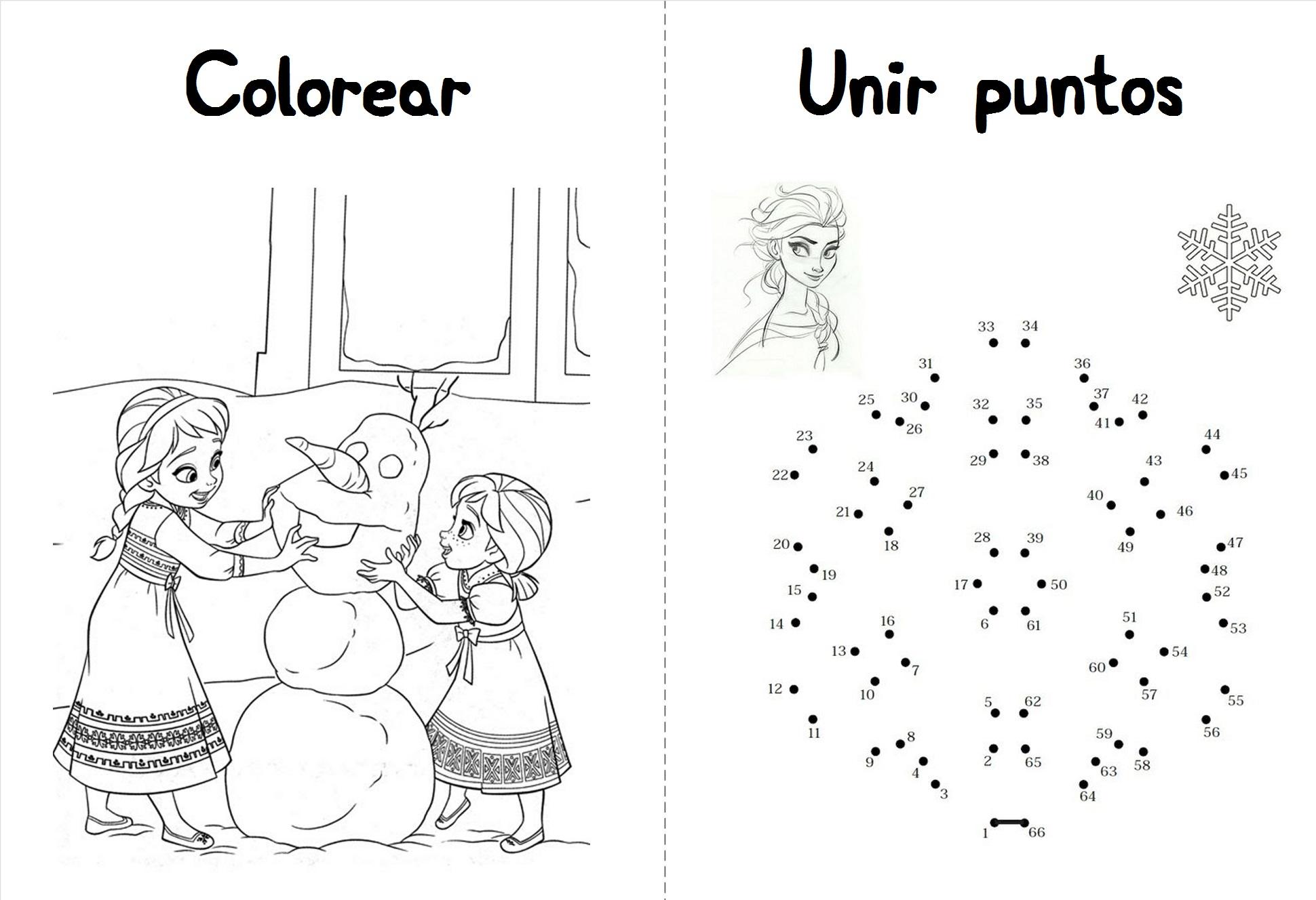 Actividades de Frozen  Princesas Disney