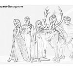 Nuevos dibujos de Frozen para colorear