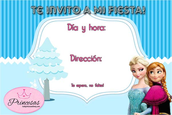 Invitaciónes De Frozen Gratis Imagui