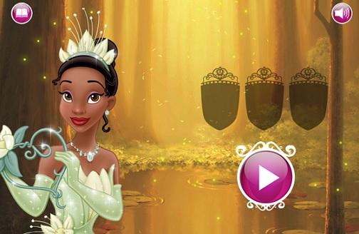 Juego Tiana Princesa y El Sapo  Princesas Disney