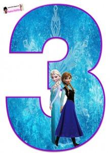 Nmeros De Frozen Princesas Disney