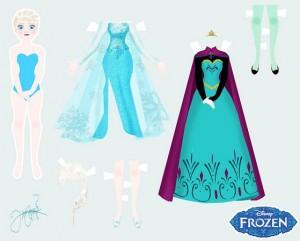 Muequita Elsa de Frozen para vestir  Princesas Disney