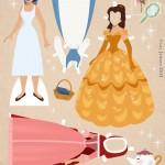 Muñequita de Princesa Bella para imprimir