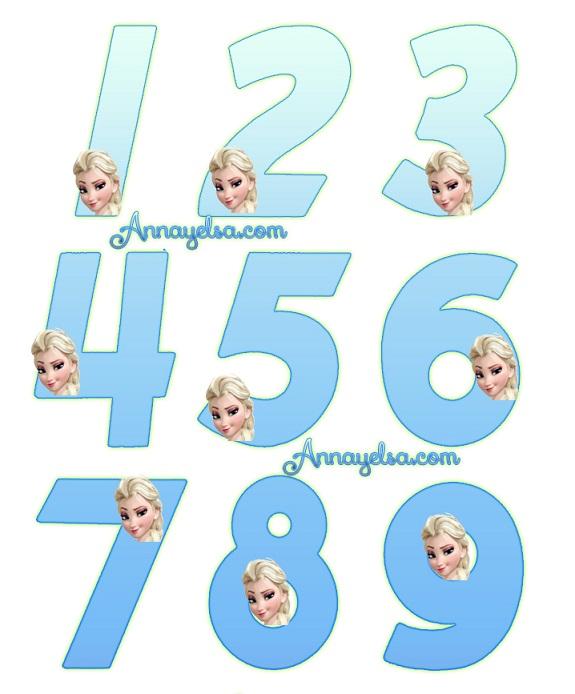 Numeros Elsa Frozen