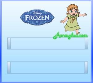 etiqueta Frozen escolar
