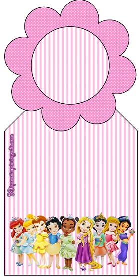Marcador de página princesas bebe