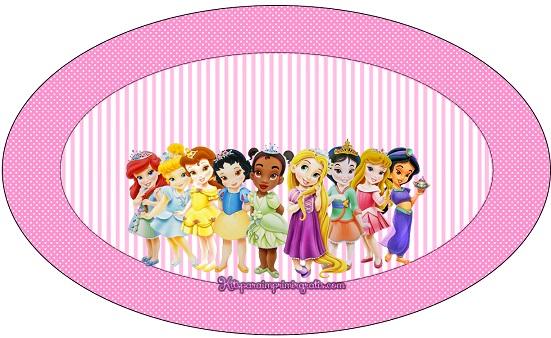 Placa ovalo princesas baby