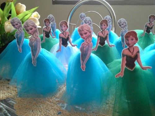 Manualidad de frozen para candy bar decoraci 243 n mesa dulce princesas
