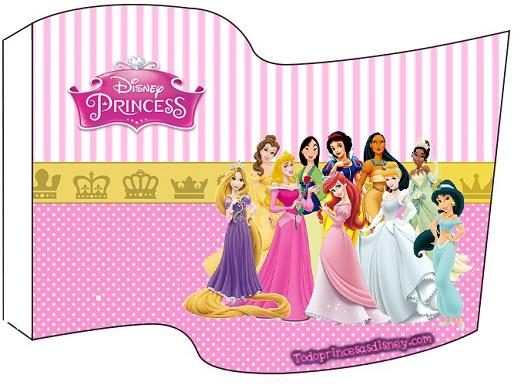 Topper banderín adorno Princesas Disney
