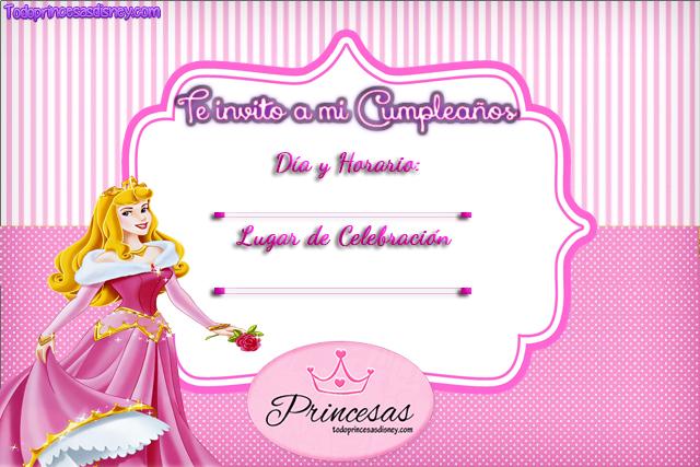 Invitaciones de Cumpleaños de Princesas Disney y Frozen | Princesas