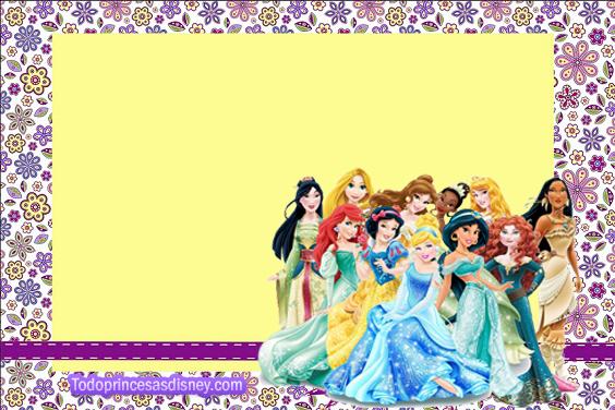 Etiquetas Princesas Disney - Tarjetasde las Princesas Disney - Imprimibles de Candy bar Princesas Disney