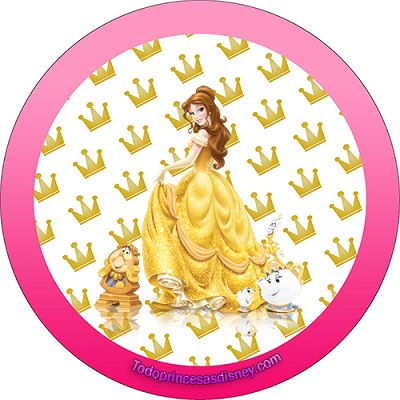 Stickers Princesa bella Candy bar - Etiquetas Princesa Bella - Cumpleaños Princesa Bella