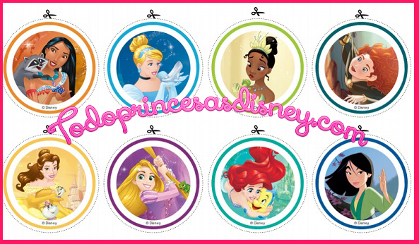 Stickers de Princesas Disney Etiquetas