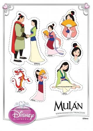 Figuras imprimibles de Mulán   Princesas Disney