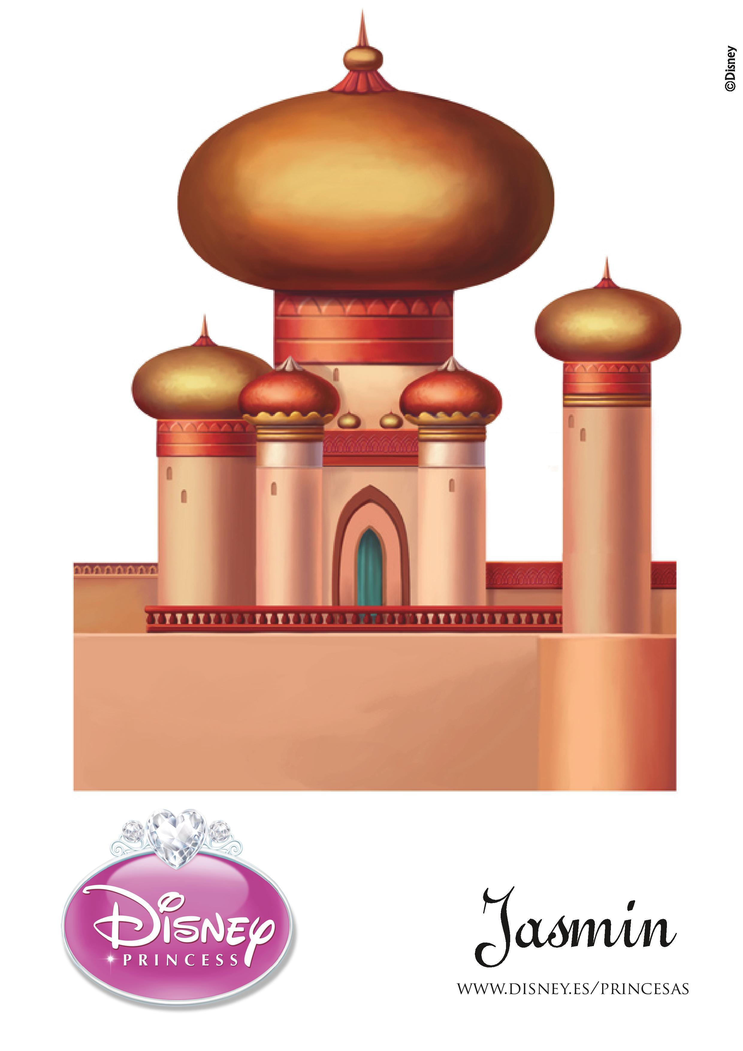 Castillo de Jasmín para imprimir y armar | Princesas Disney