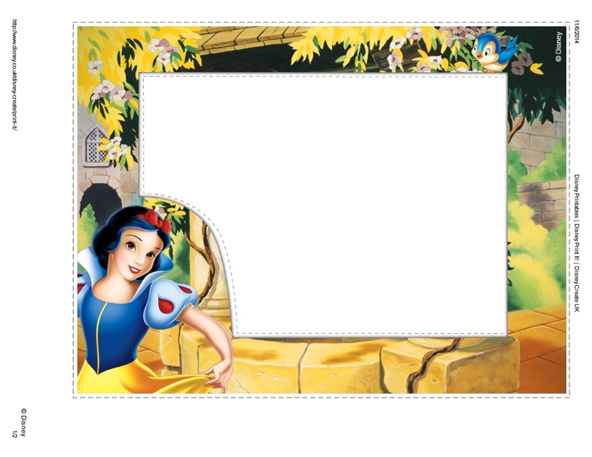 Marcos para fotos de Blancanieves | Princesas Disney