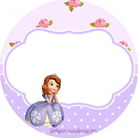 imprimibles gratis de Princesa Sofía: Etiquetas /toppers | Princesas ...