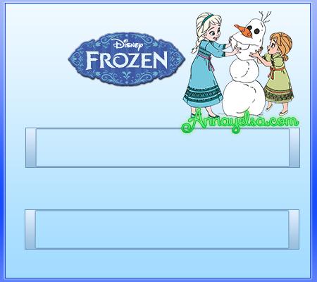 Modelos Etiquetas frozen para colegio