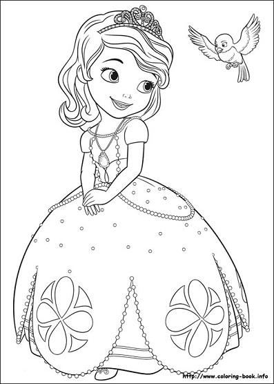 Dibujos para colorear de Princesa Sofia | Princesas Disney