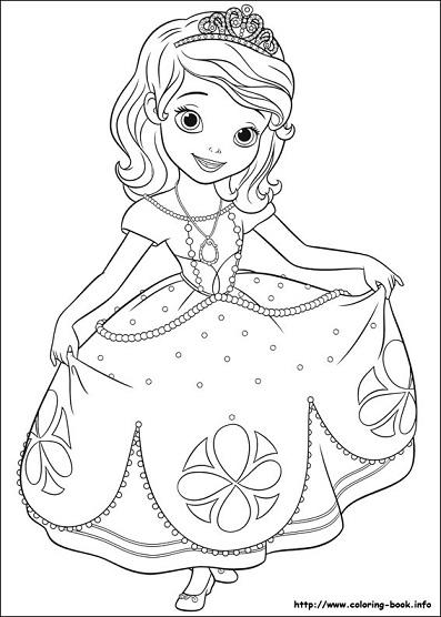 Nuevas im genes de princesa sof a para colorear princesas disney - Image de princesse ...