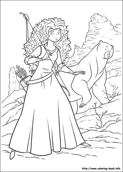 Dibujos de Brave Merida