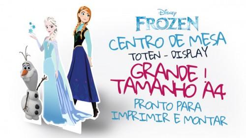 Centro de Mesa de Elsa, Anna y Olaf Frozen para imprimir y armar