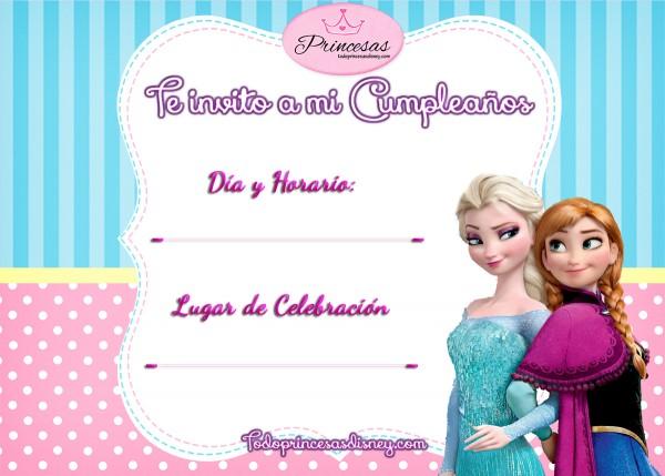 Invitaciones de Cumpleaños Frozen ELsa y Anna