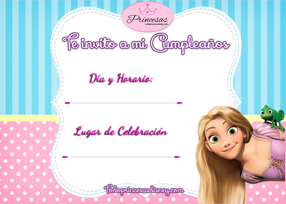 Invitaciones de Cumpleaños de Princesas Disney y Frozen Princesas Disney