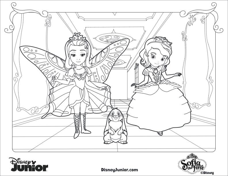 Dibujos para Colorear de Princesa Sofía, Amber y Clover | Princesas ...