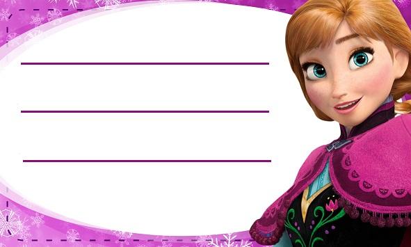 Etiquetas escolares Frozen para descargar gratis