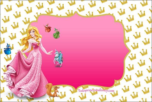 Etiquetas de La Bella Durmiente - Stickers de Aurora Princesa - Imprimibles de La Bella Durmiente Aurora para candy bar