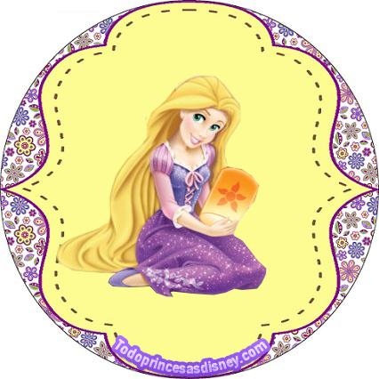 Rapunzel Etiquetas - Stickers Rapunzel - Candy bar imprimibles rapunzel